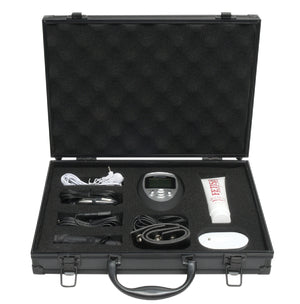 Fetish Fantasy Series Deluxe Shock Therapy Travel Kit - Black/Silver/White