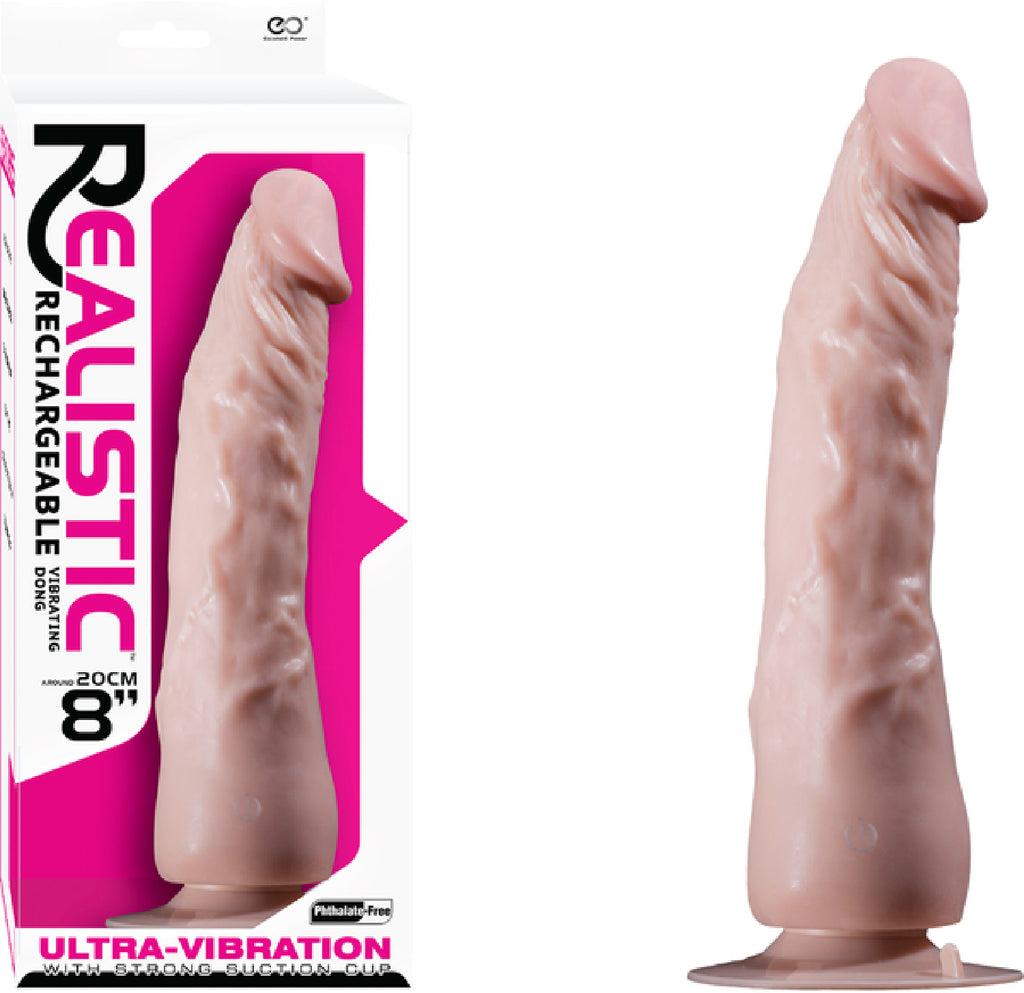 "8"" Vibrating Dong (Flesh)"