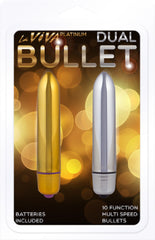 Dual Bullet 10 Function (Silver) & (Gold)