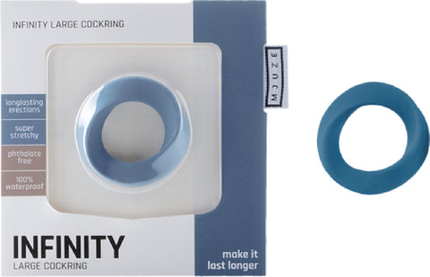 Infinity - Large Cockring (Blue)