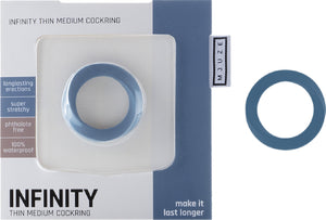 Infinity - Thin - Medium Cockring (Blue)