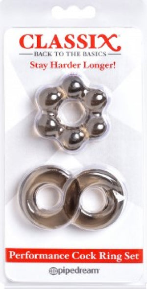 Performance Cock Ring Set (Smoke)