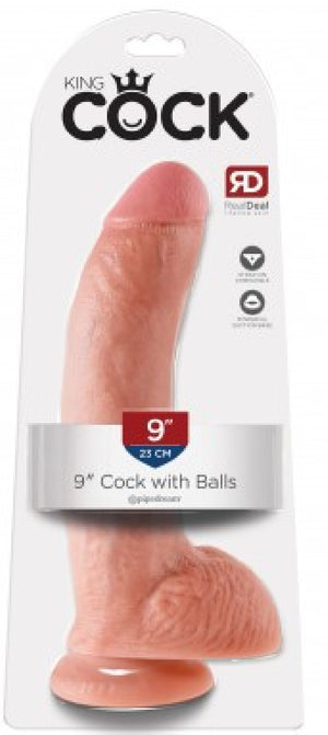 "9"" Cock With Balls (Flesh)"