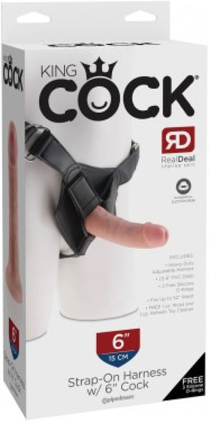 "Strap-On Harness W/ 6"" Cock (Flesh)"
