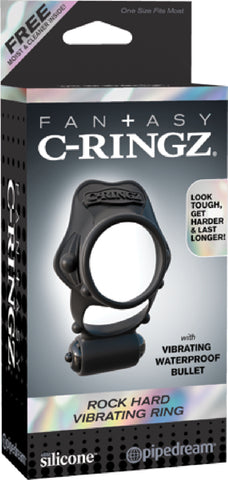 Rock Hard Vibrating Ring (Black)