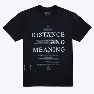 HEAVYWEIGHT JERSEY DISTANCE T-SHIRT, BLACK