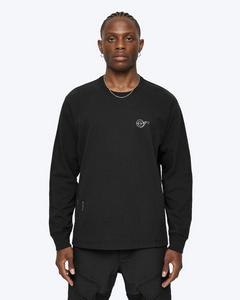 HEAVYWEIGHT JERSEY NOTE LONG SLEEVE, BLACK