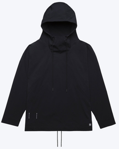 Stretch Nylon Anorak, Black