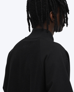 Collared Sweatshirt, Black
