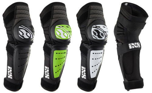 IXS Cleaver knee/shin guard LARGE WHITE downhill park jumping DH