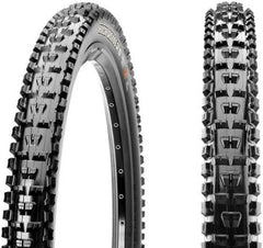 "2x Maxxis Highroller II tires 27.5"" X 2.4"" SuperTacky 2-ply DH downhill"