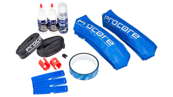 Schwalbe Procore kit (2x inner tire, tube, & sealant-- converts 1 bike)