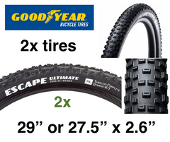 "2x 2020 Goodyear Escape Ultimate 2.6"" (29"" or 27.5"") Tubeless / 240tpi **FREE SHIP**"