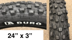 "10x Duro Razorback 24"" X 3"" tires 60A 30TPI DH WIRE #motoped #stealthelectric"
