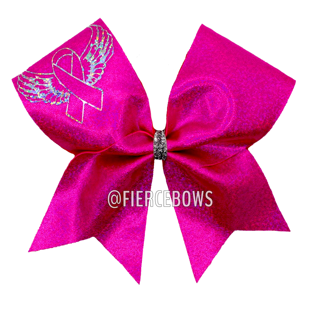 Angel Wings Cancer Awareness Bow