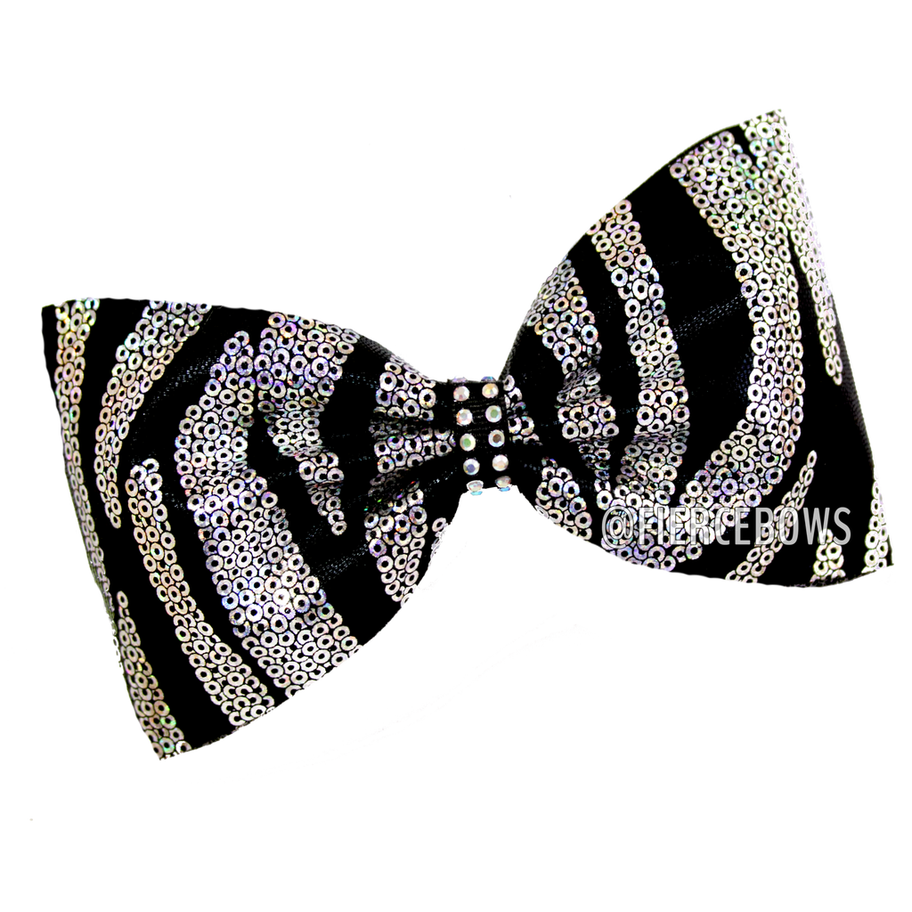 Holographic Zebra Tailless Bow
