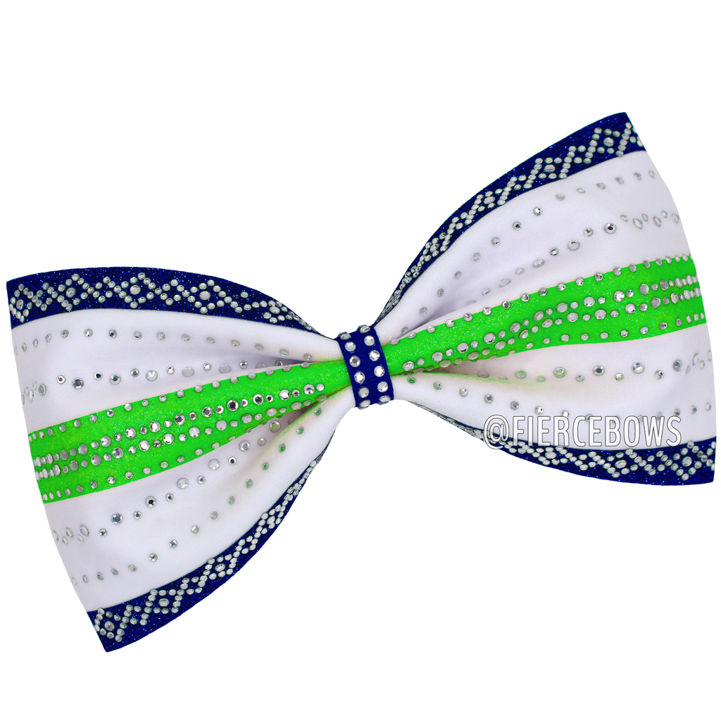 Black and White (or whatever you choose) Rhinestone Tailless Bow