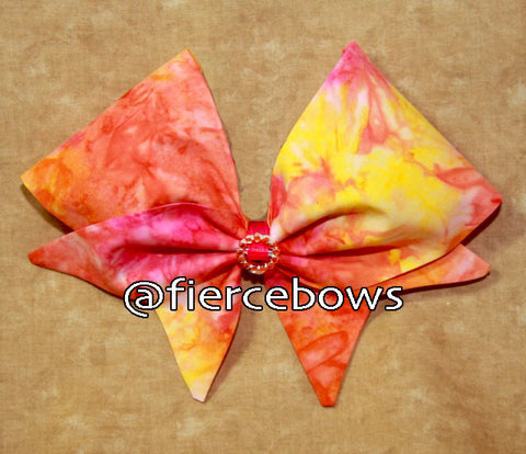 Blazing Sunset Hand Sewn Bow