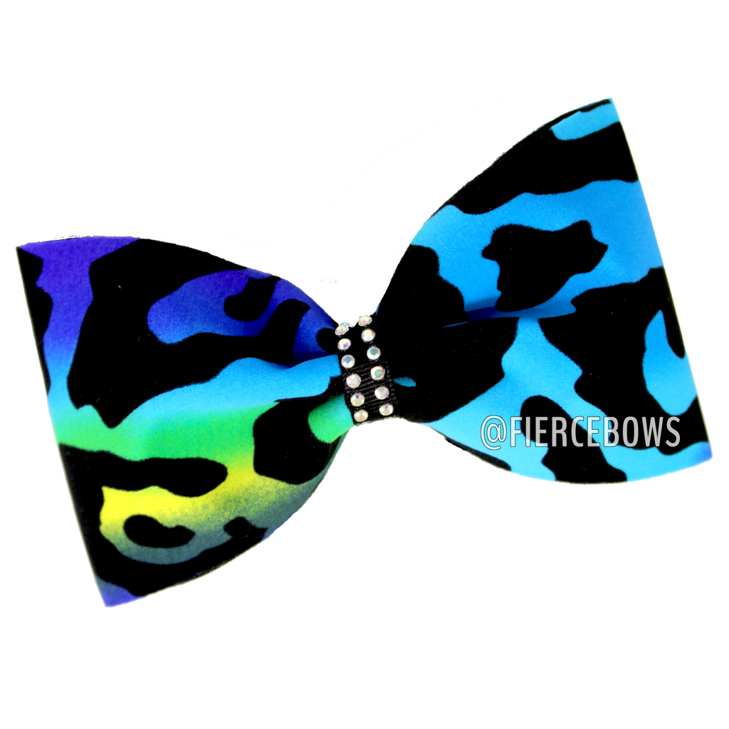 Cheetah Girl Blues Tailless Bow