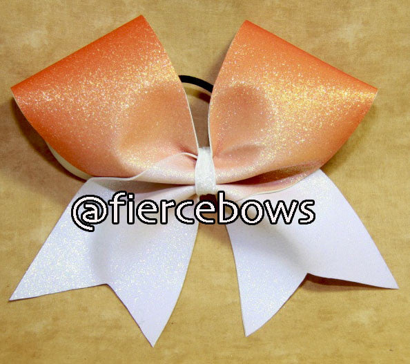 Creamsicle Glitter Ombre Bow