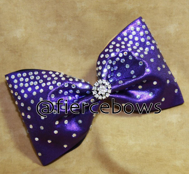 Dreaming in Purple Rhinestone Bow