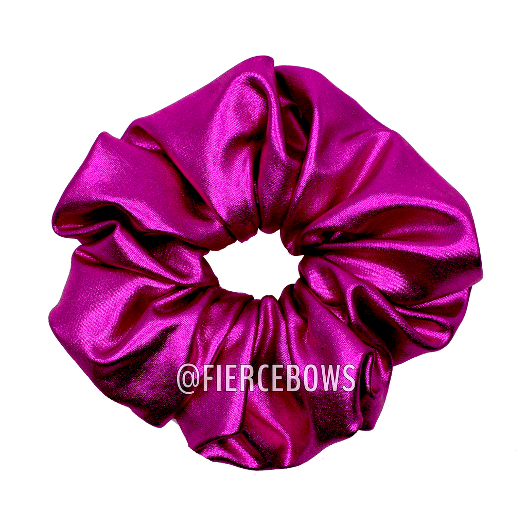 Solid Color Metallic Hair Scrunchie
