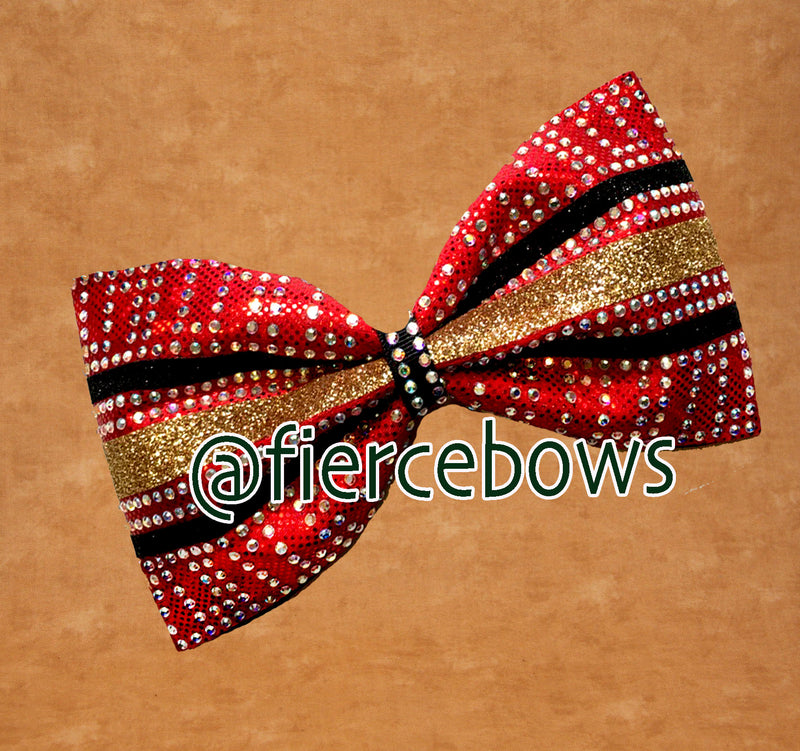 I'm A DVIA Three Color Rhinestone Tailless Bow