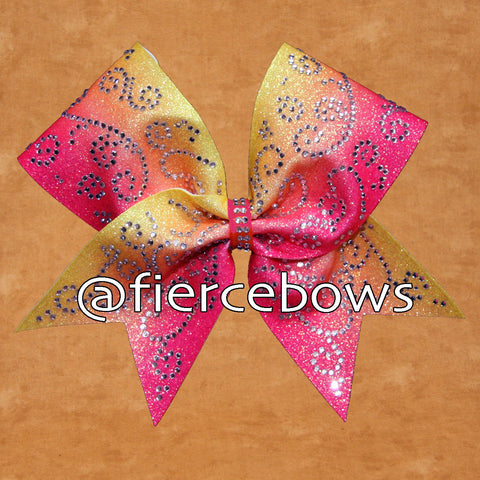 Just Magical Rhinestone Ombre Cheer Bow