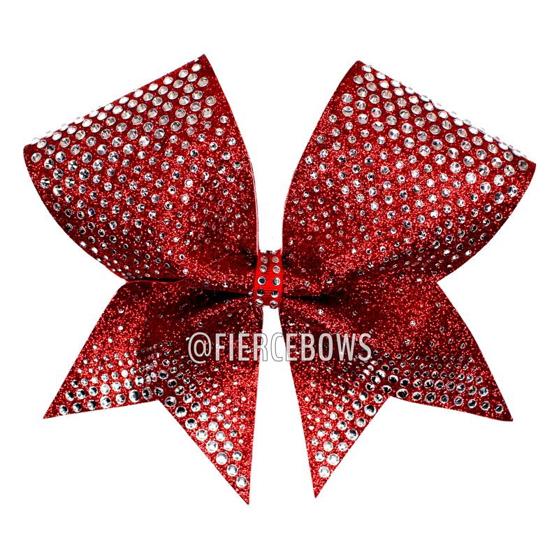 Blue, Pink and White Splatter Cheer Bow