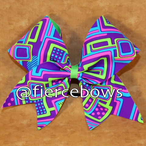 Neon Paradise Cheer Bow