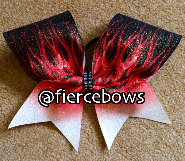 Ombre Flames Bow