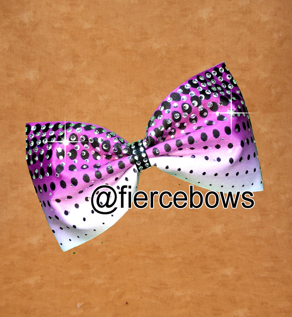 Ombre Polka Dot Ombre And Rhinestone Tailless Bow
