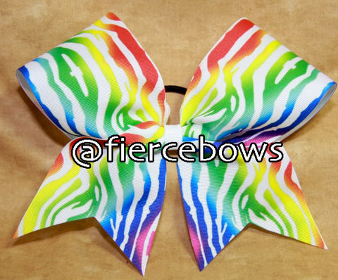 Primarily Zebra Cheer Bow