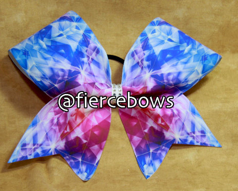 Prism in Pink and Blue Cheer Bow