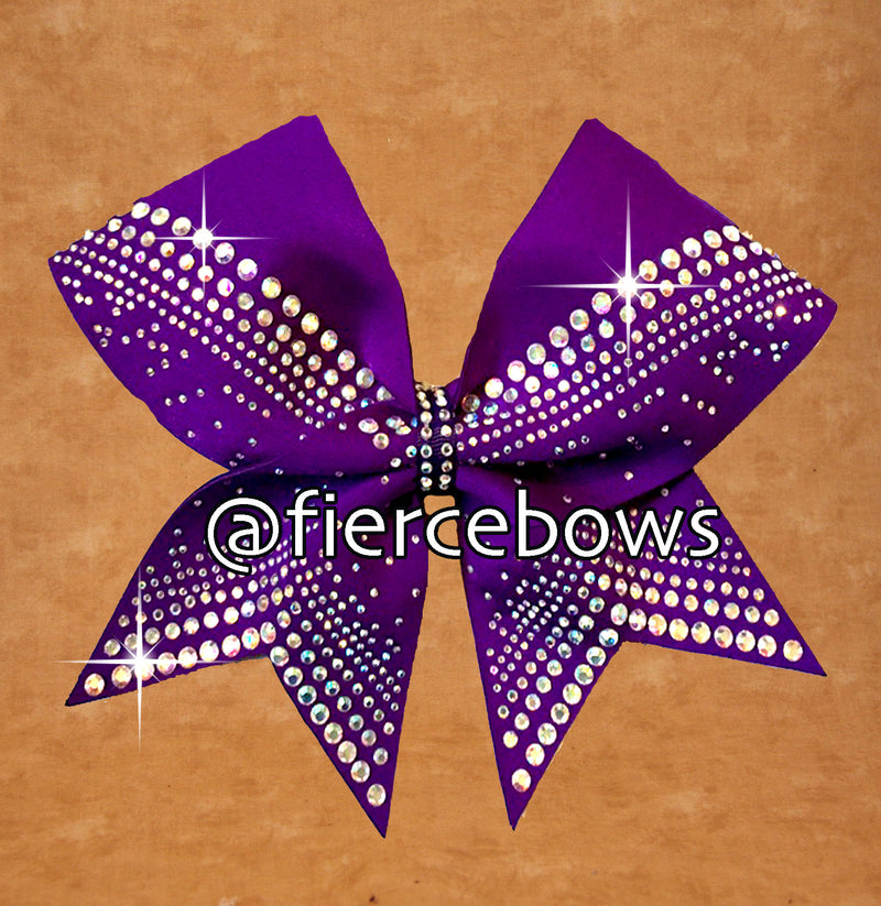 Purple Perfection Rhinestone Bow