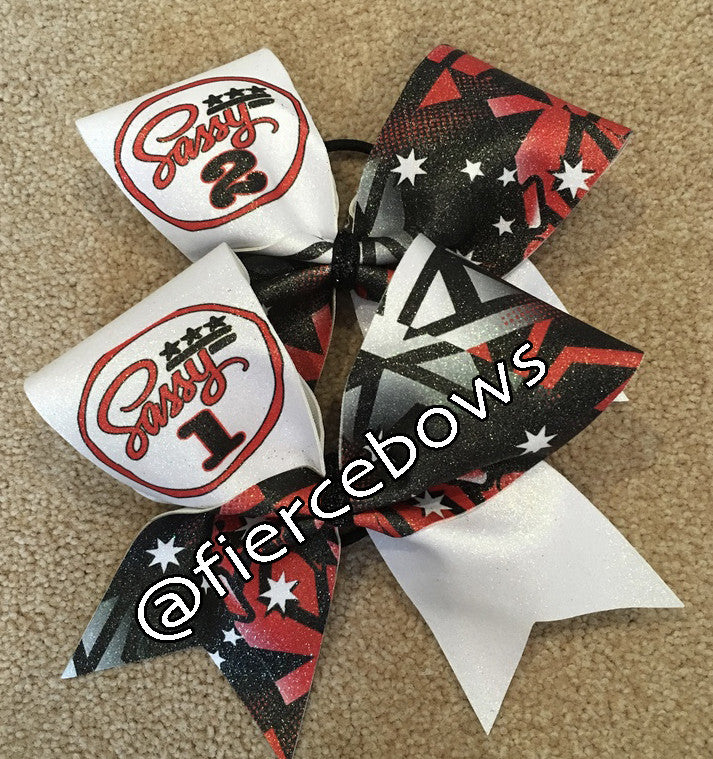 Sassy 1 and Sassy 2 Cheer Bow Set