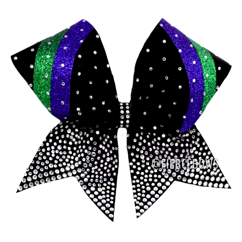 Seeing Double Glitter and Rhinestone Cheer Bow