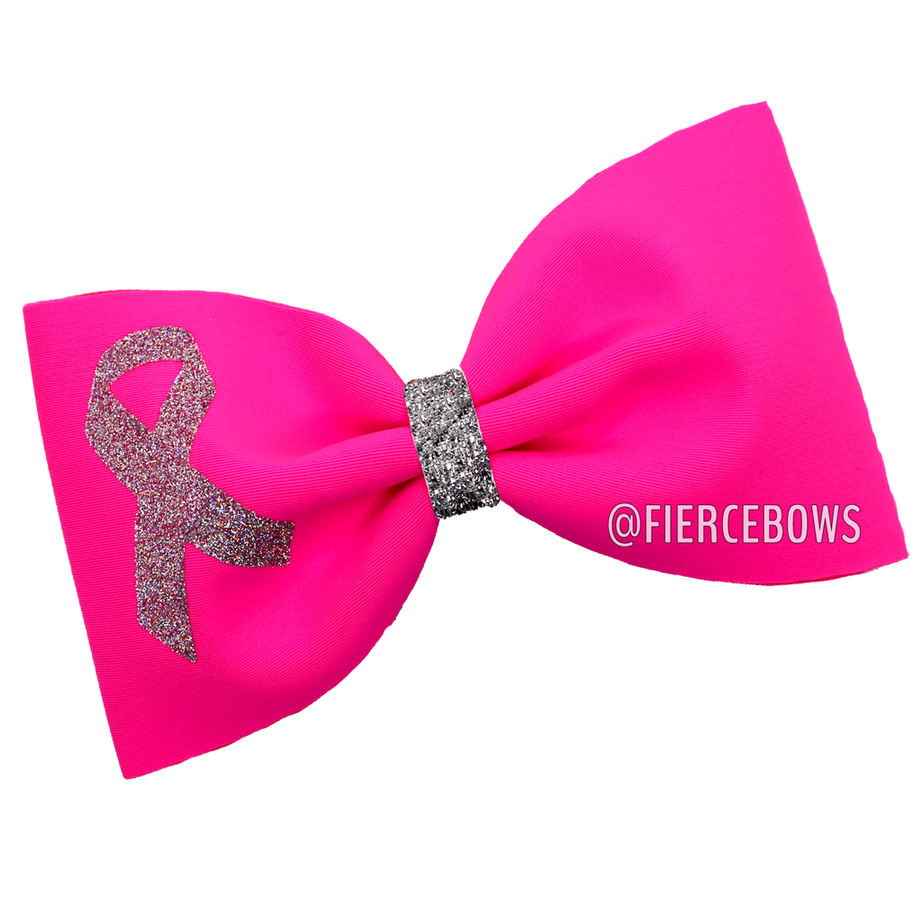 Show Your Support Breast Cancer Awareness Tailless Bow