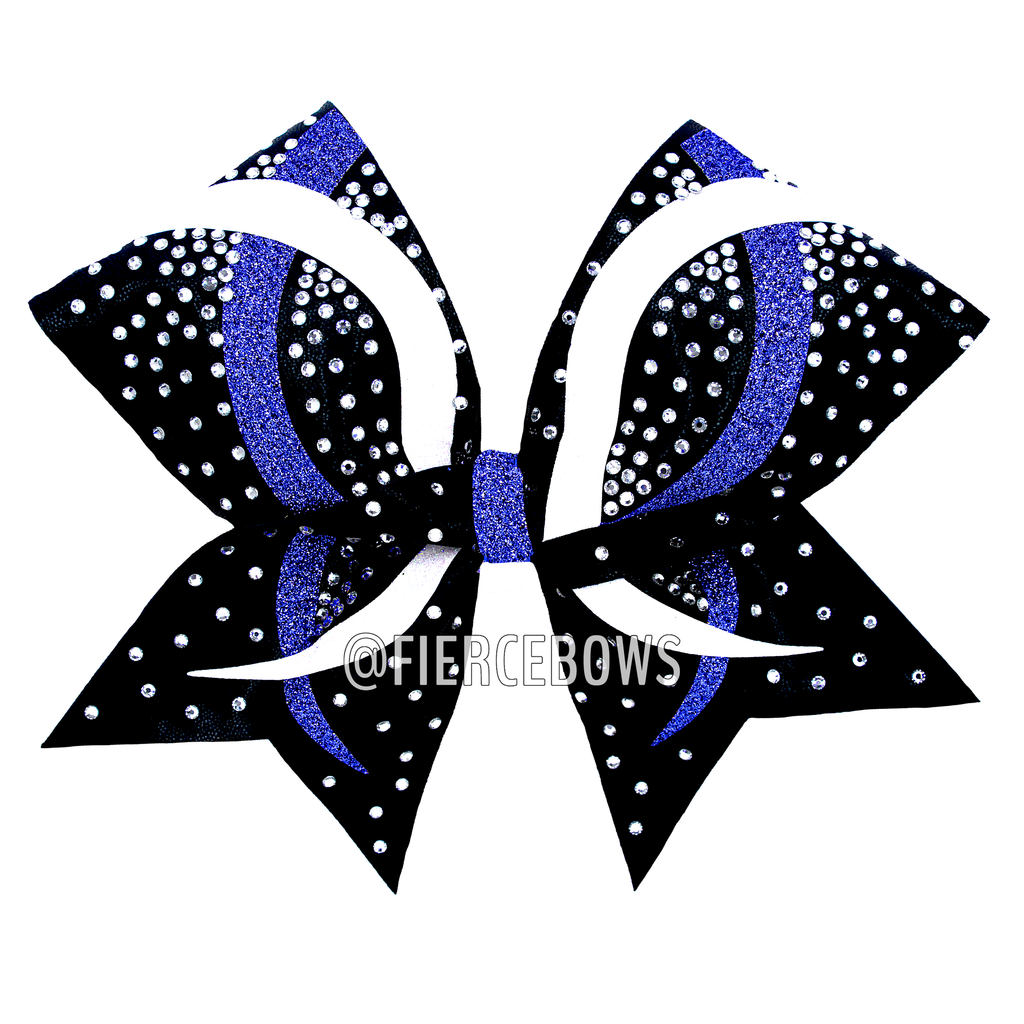 Twisted Ribbons Glitter and  Rhinestone Bow