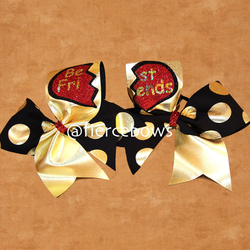 Best Friends Polka Dot Set in Gold