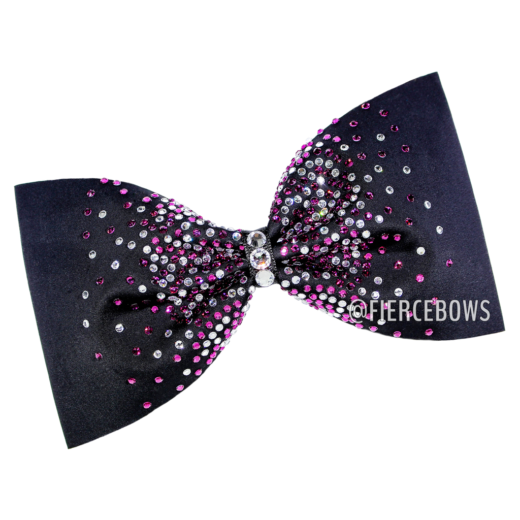 Two Color Rhinestone Burst Tailless Bow