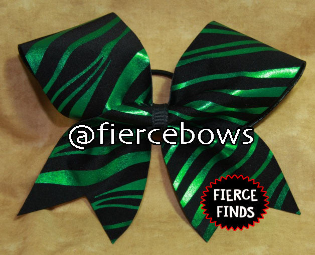 Green and Black Metallic Zebra