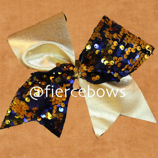 Reversible Sequin Tick Tock - Navy/Gold