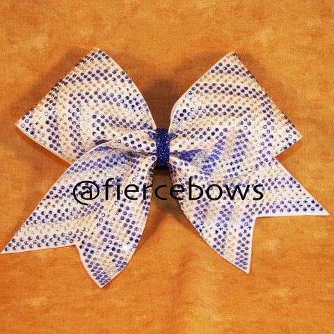 Full Rhinestone Chevron in Blue and Clear