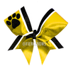 Mascot Border Twin Cheer Bow