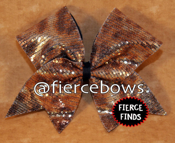 Brown Cheetah Sequin