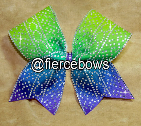 Be Different Rhinestone Cheer Bows