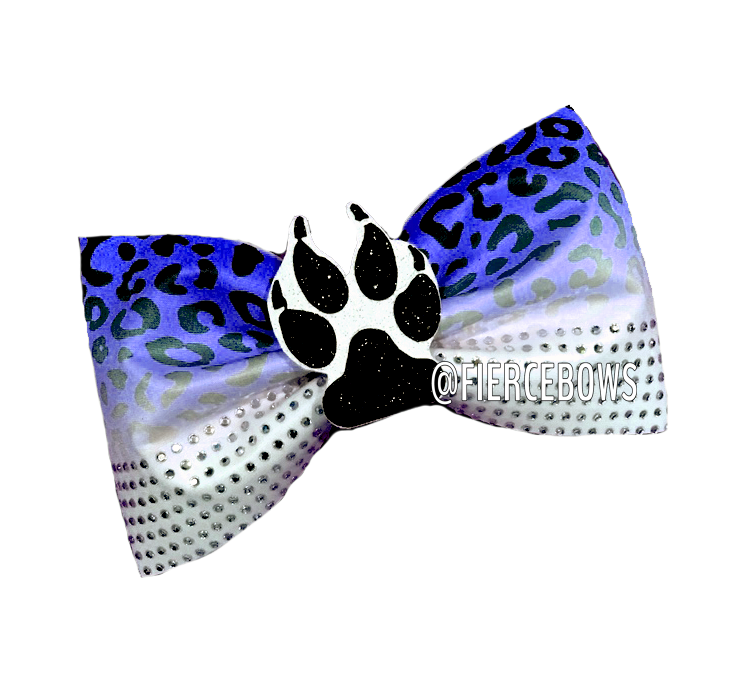 Jungle Fever Rhinestone and 3D Center Tailless Bow