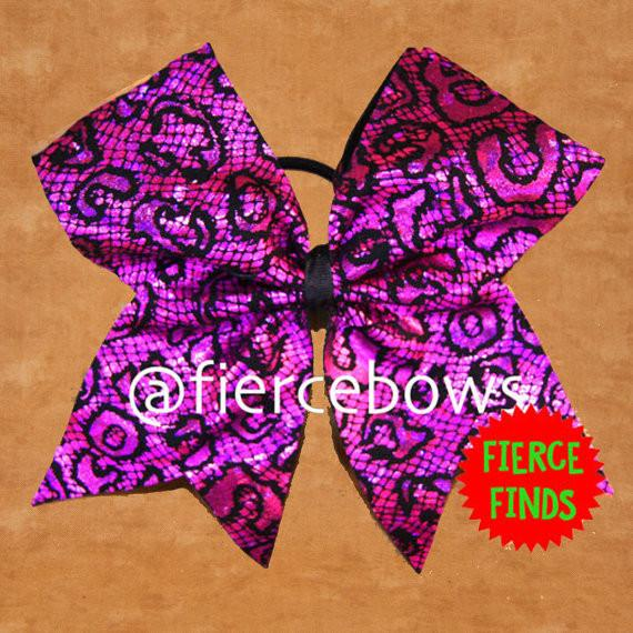 Cheetah Lace Bow