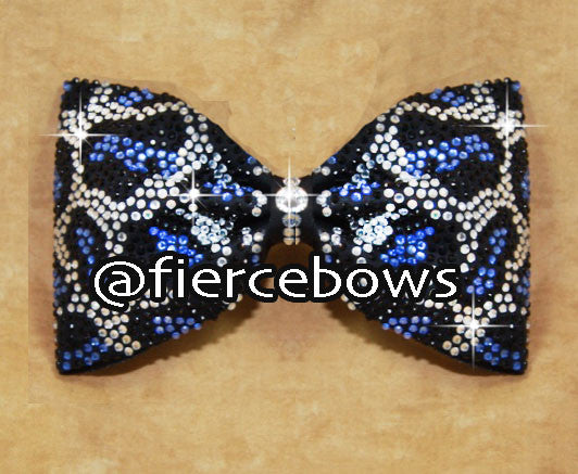 Cheetah Rhinestone Tailless Bow
